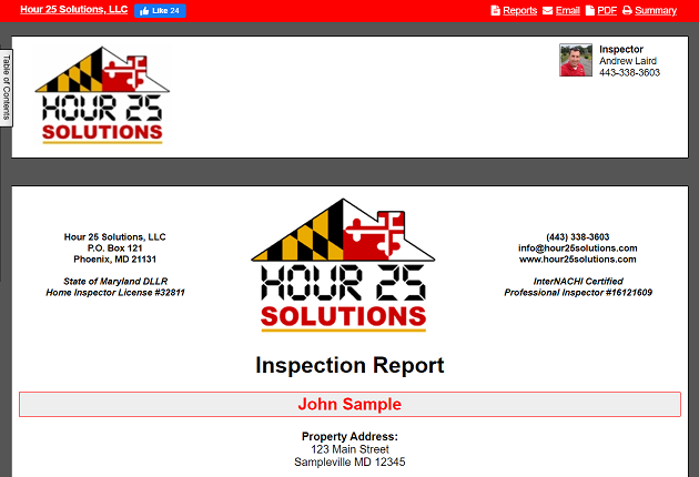 Interactive Sample Home Inspection Report